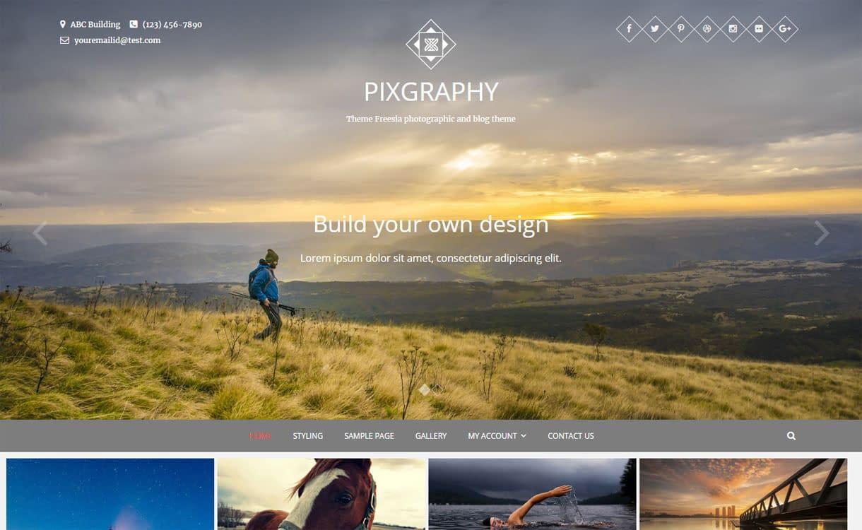 Pixgraphy - Best Free Photography WordPress Theme