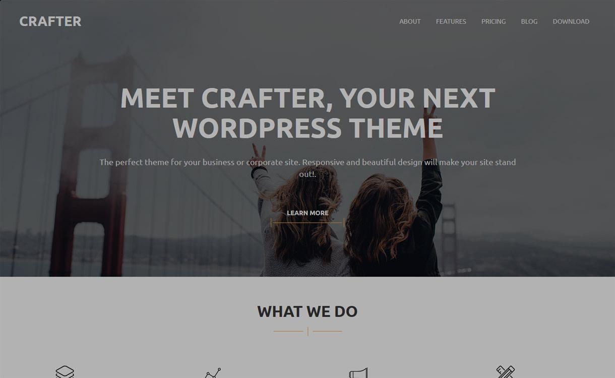 Crafter - Best Free WordPress Themes January 2017