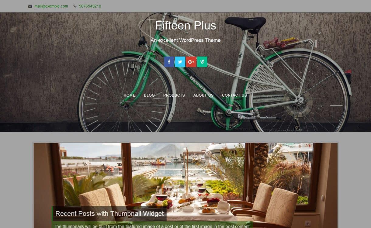 Fifteen-Best Free WordPress Photography Themes