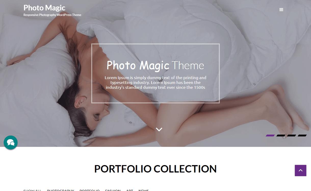 Photo magic-Best Free WordPress Photography Themes