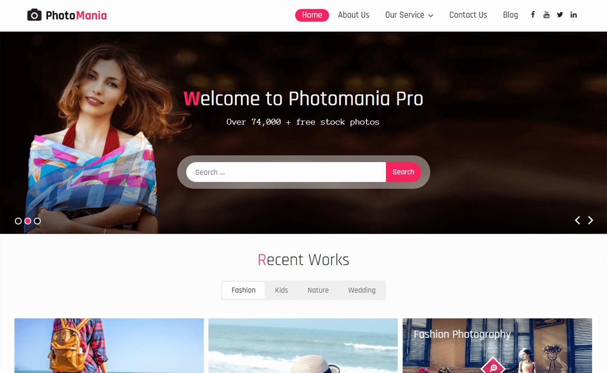 Photomania-Best Free WordPress Photography Themes