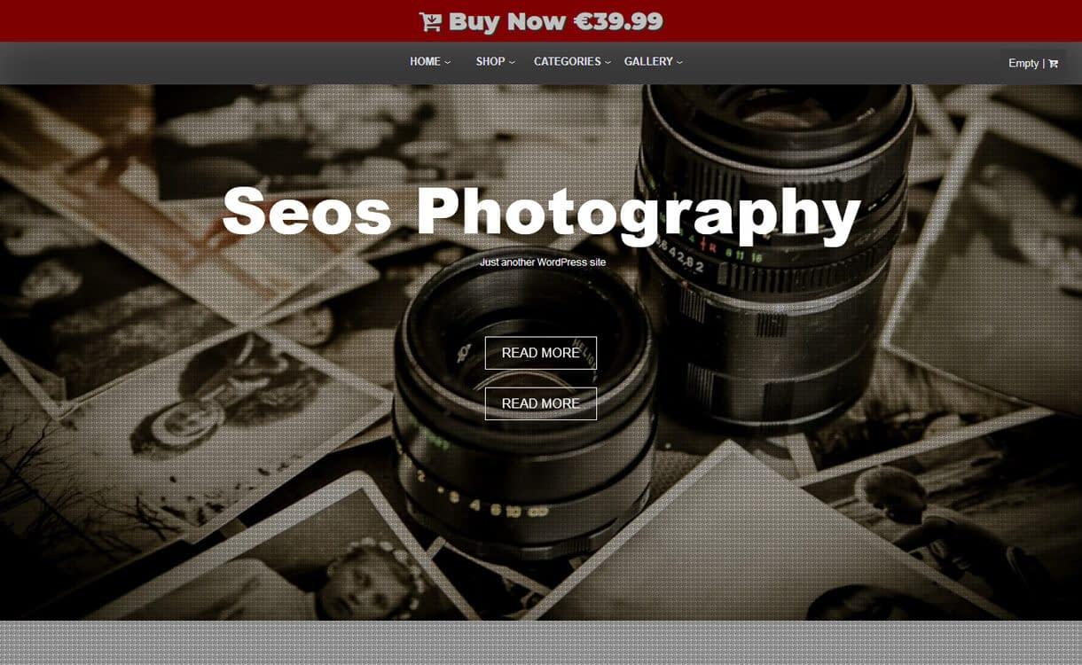Seos Photography-Best Free WordPress Photography Themes