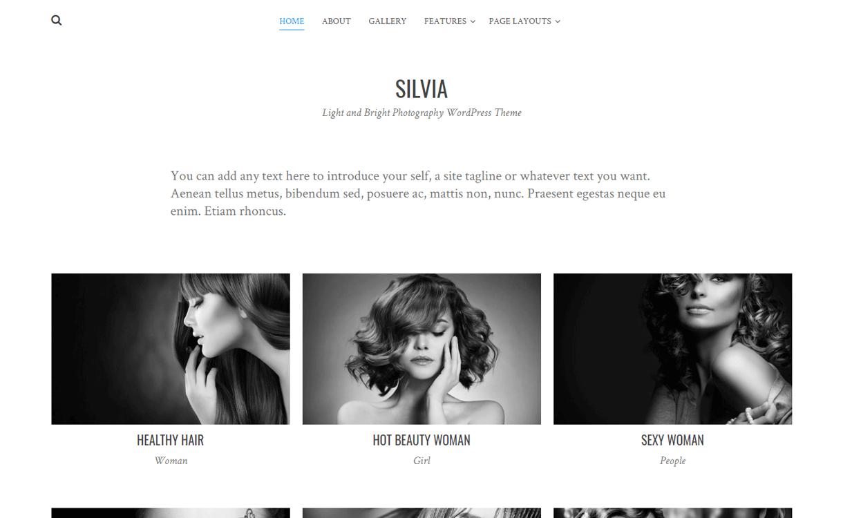 Silvia-Best Free WordPress Photography Themes