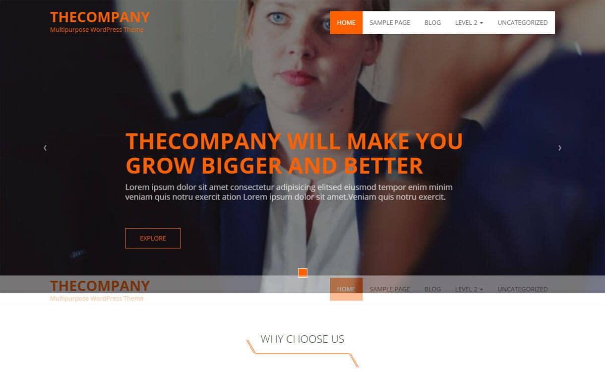 The Company - Best free WordPress Business Theme 2018