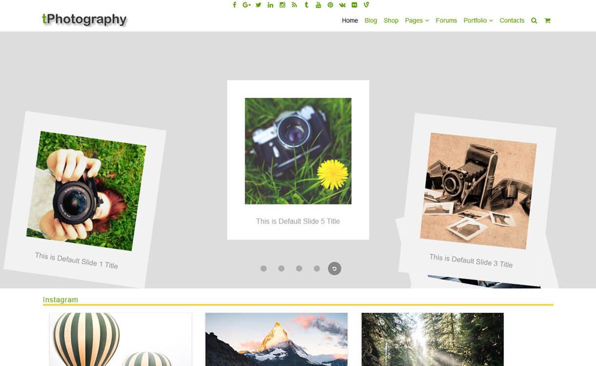 tPhotography-Best Free WordPress Photography Themes