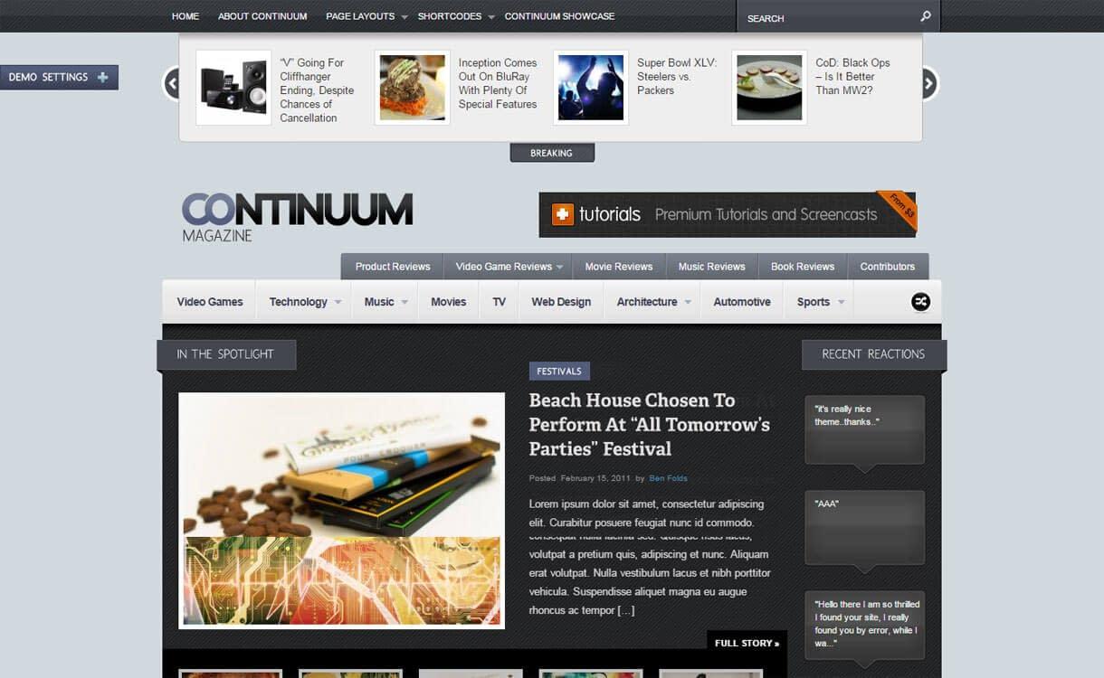 Continuum - Best Premium WordPress News-Magazine, Editorial Themes 2017