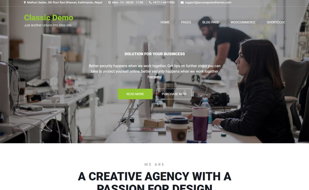 Unicon Pro - Premium WordPress Business Theme
