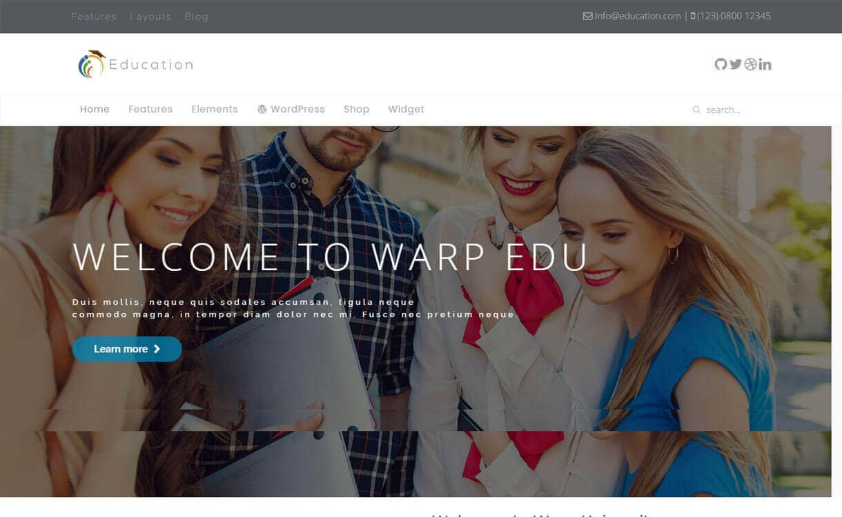 WT Education - Best Free WordPress Education Themes 2018