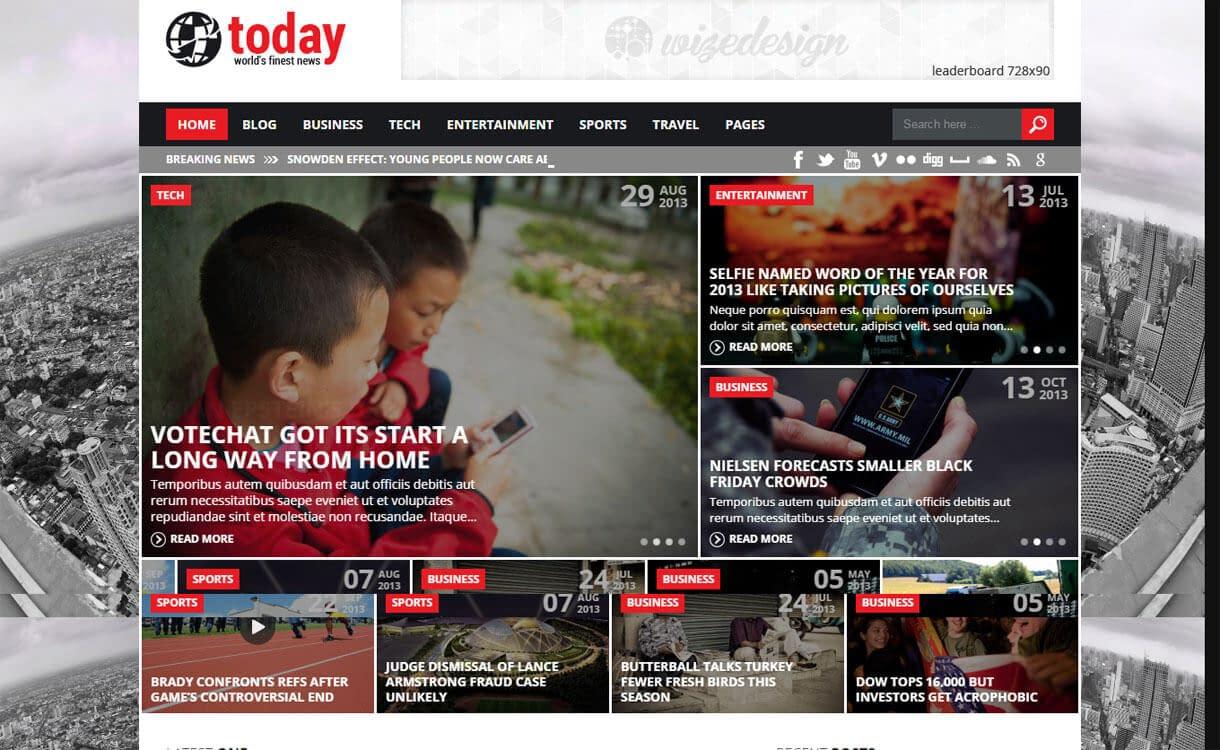 Today - Best Premium WordPress News-Magazine, Editorial Themes 2017
