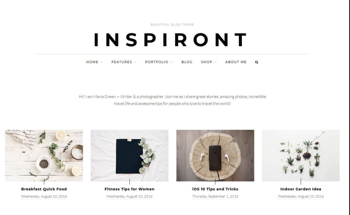Inspiront-WordPress Blog Themes