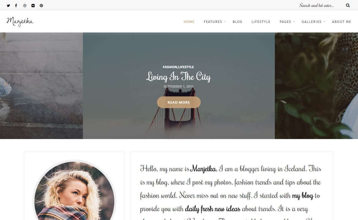 Marjetka-WordPress Blog Themes