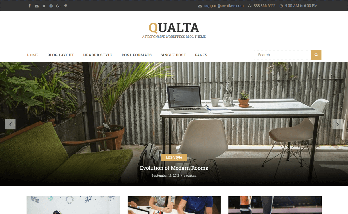 Qualta-WordPress Blog Themes
