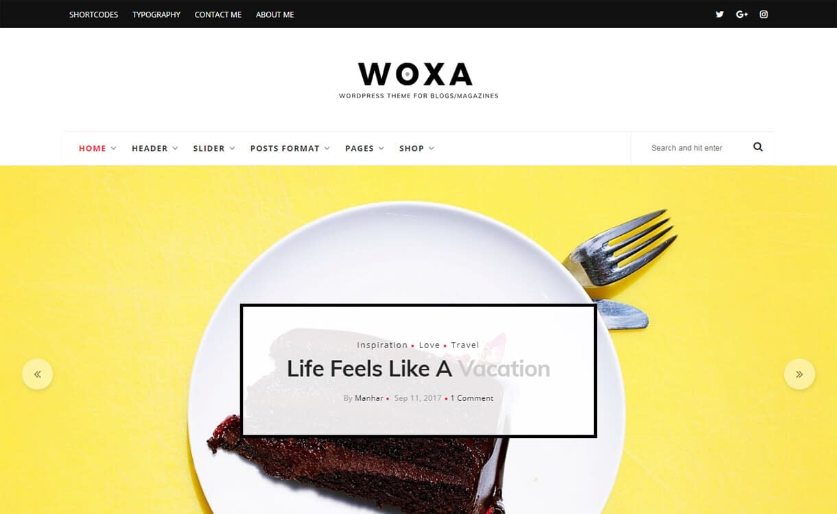 Woxa-WordPress Blog Themes