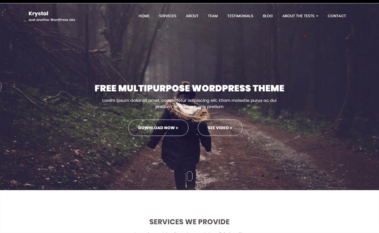 Krystal-Best Free WordPress Themes November 2017
