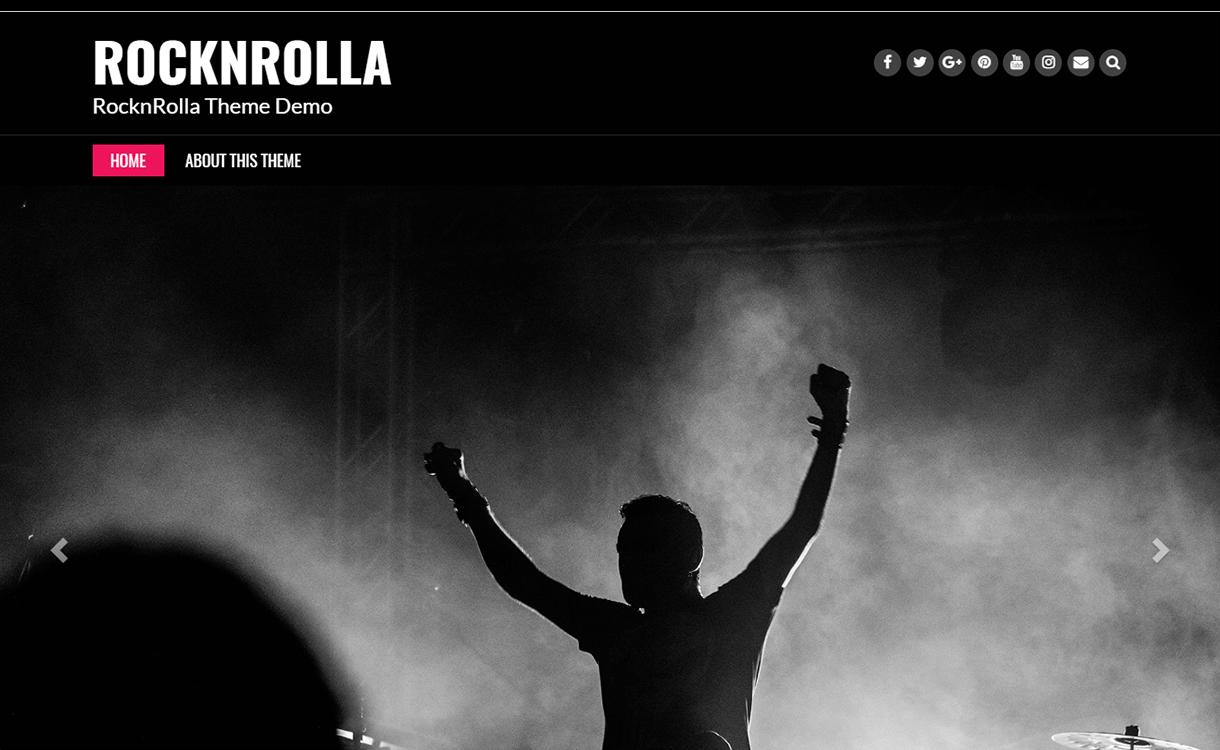 Rock N Rolla-WordPress Material Design Theme