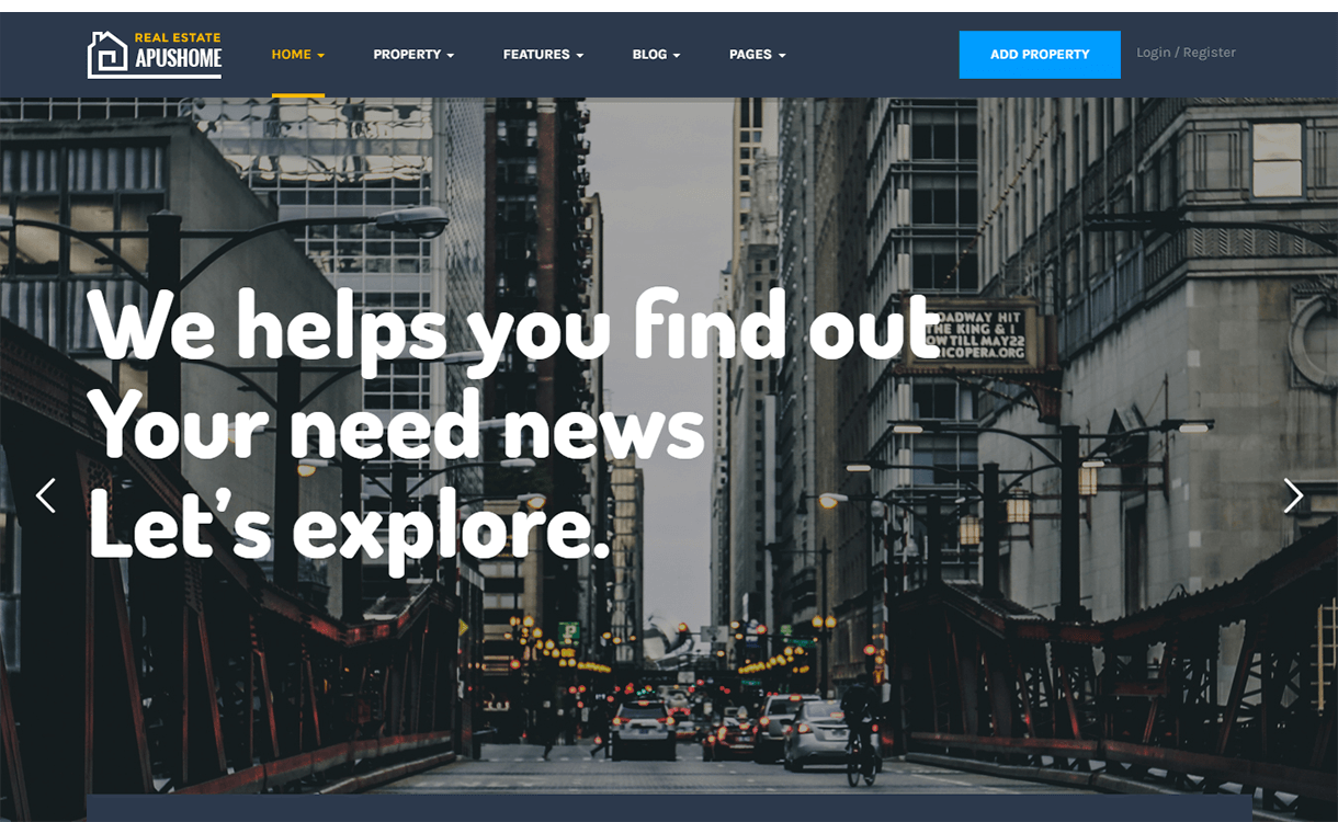 ApusHome-Best Free & Premium Real Estate WordPress Themes
