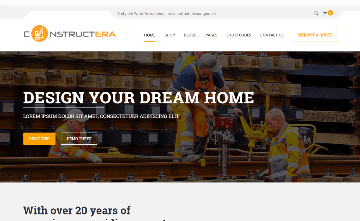 Constructera-Premium Construction WordPress Theme