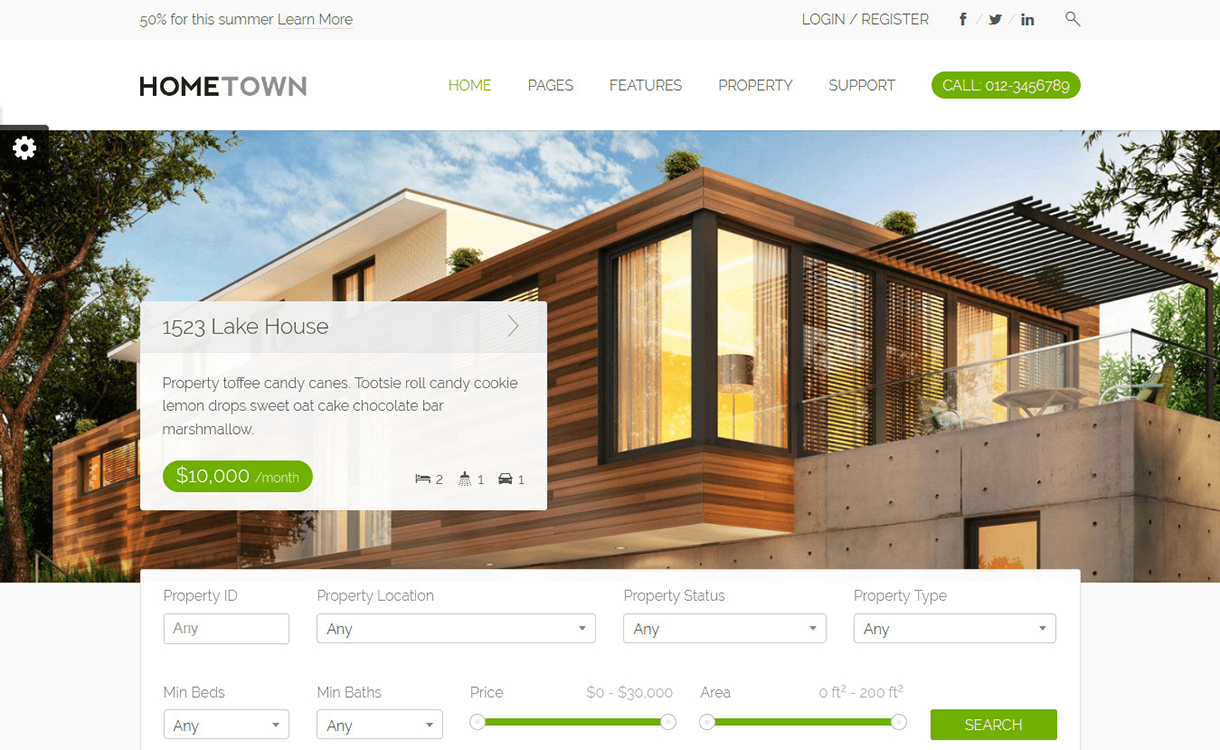 HomeTown-Best Free And Premium Real Estate WordPress Themes