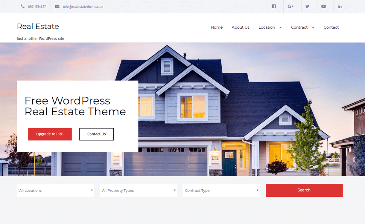 Real Estate Lite-Best Free & Premium Real Estate WordPress Themes