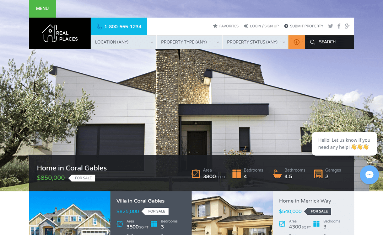 Real Places-Free & Premium Real Estate WordPress Themes