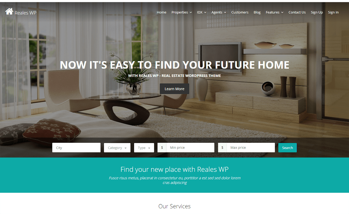 Reales WP-Free & Premium Real Estate WordPress Themes