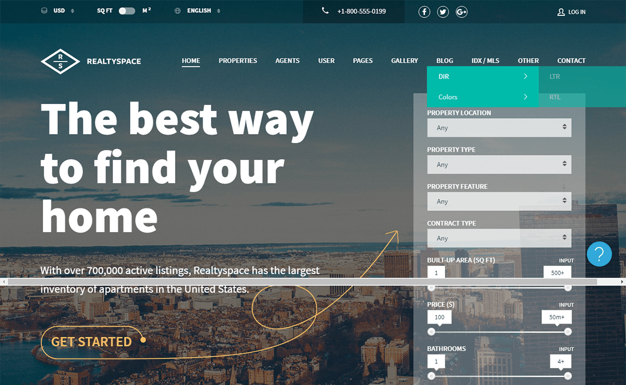 Realtyspace-Free & Premium Real Estate WordPress Themes