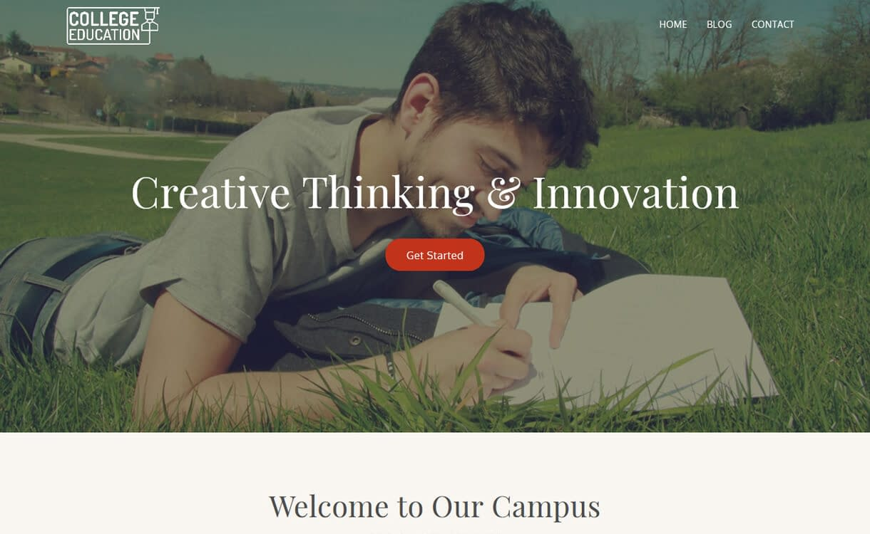 College Education-Best Free WordPress Themes March 2018