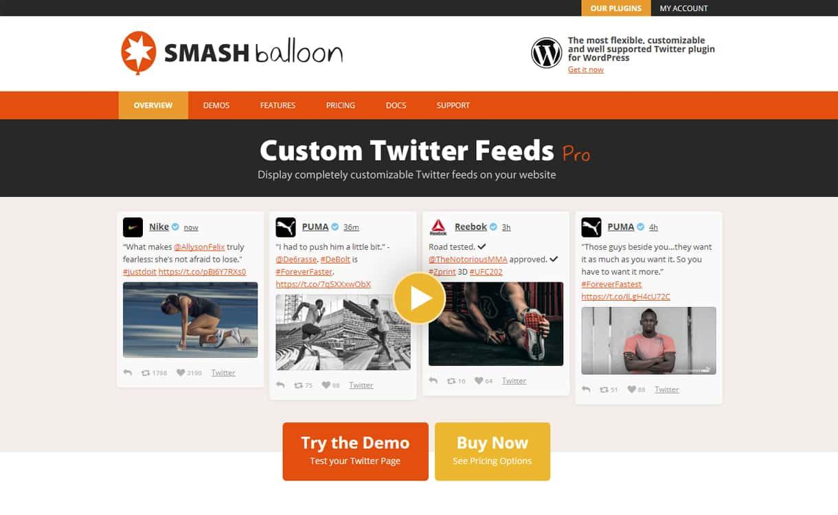 Custom Twitter Feed Pro - WordPress Twitter Feed Plugins
