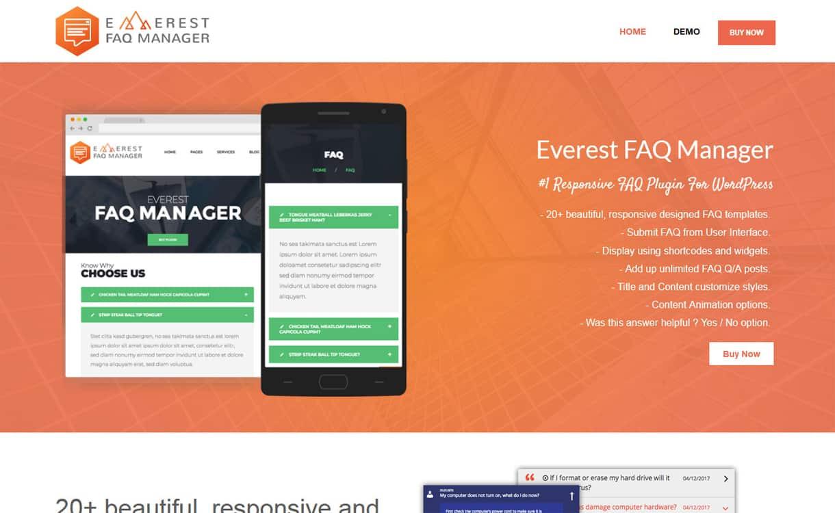 Everest FAQ Manager - WordPress FAQ Plugins
