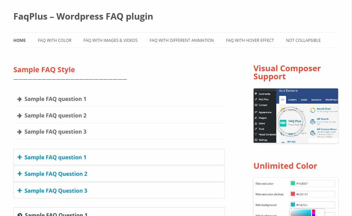 FAQPlus - WordPress FAQ Plugins
