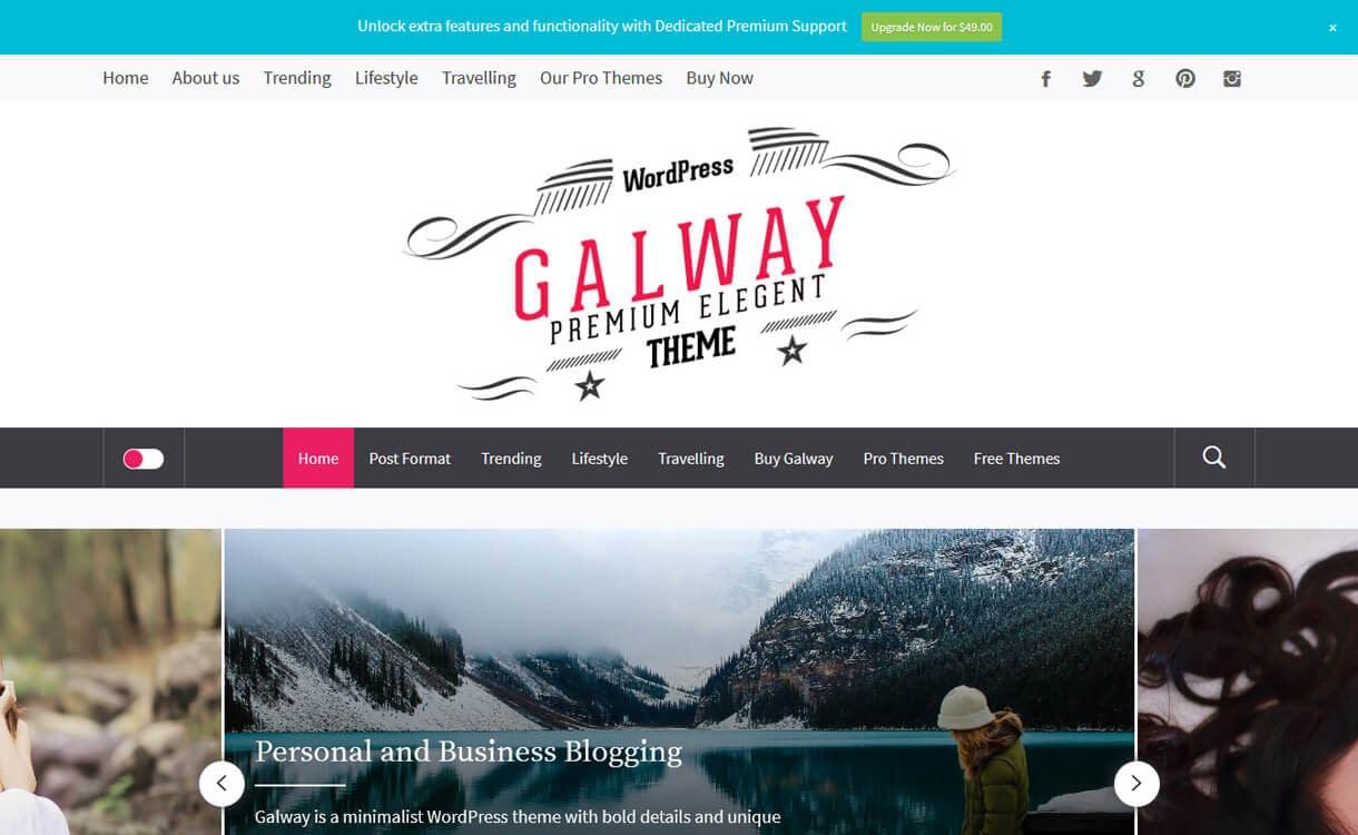 Galway Lite-Best Free WordPress Themes March 2018