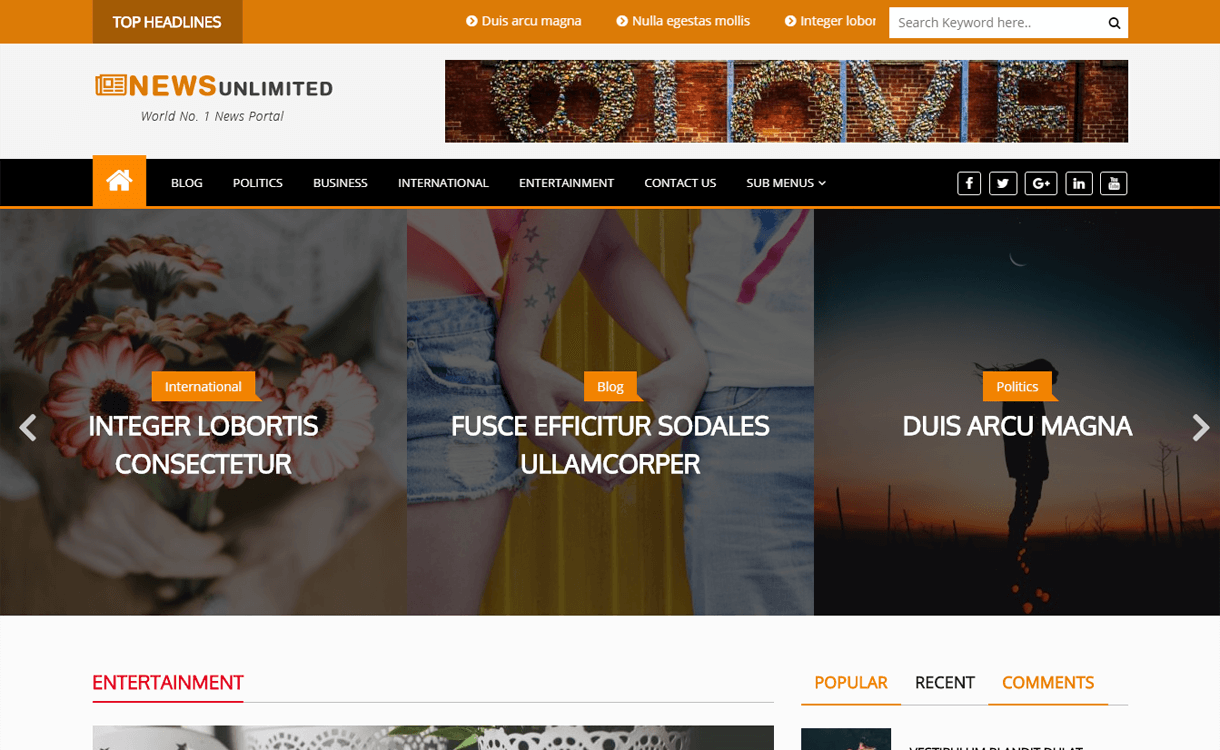 News Unlimited-Best Free WordPress Themes March 2018