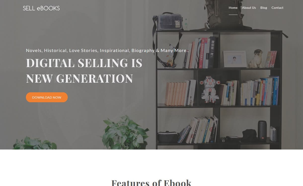 Sell eBooks-Best Free WordPress Themes March 2018