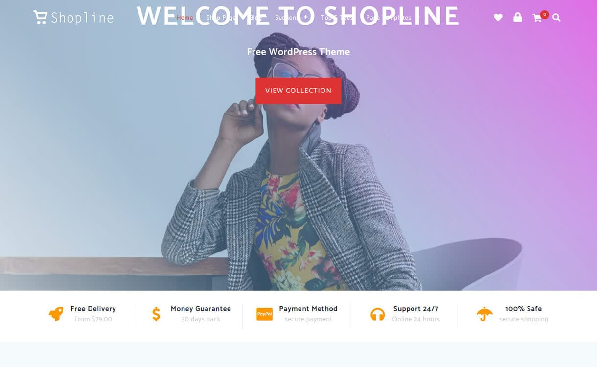 Shopline-Best Free WordPress Themes March