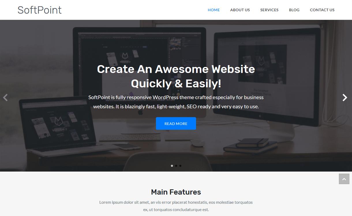 SoftPoint-Best Free WordPress Themes March 2018