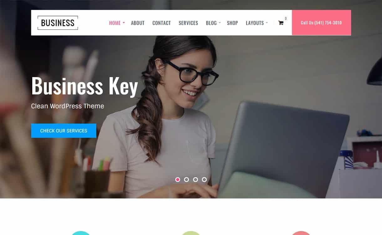 Business Key-Best Free WordPress Themes May 2018
