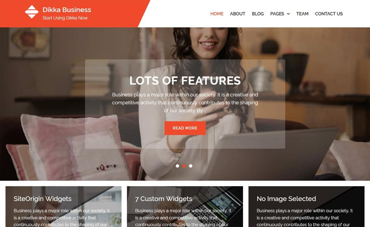 Dikka Business-Best Free WordPress Themes May 2018