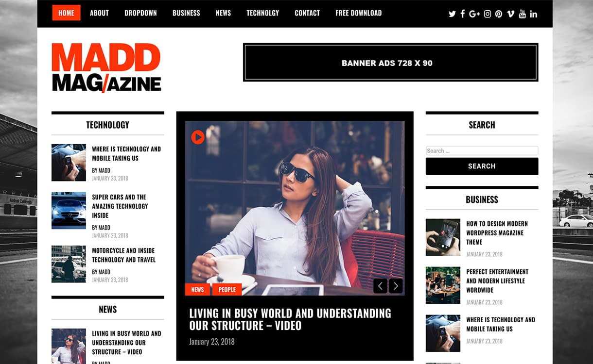 Madd Magazine Theme
