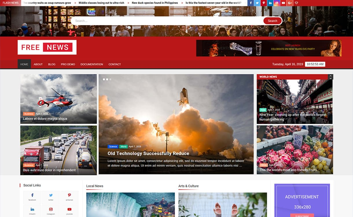 FreeNews WordPress Theme