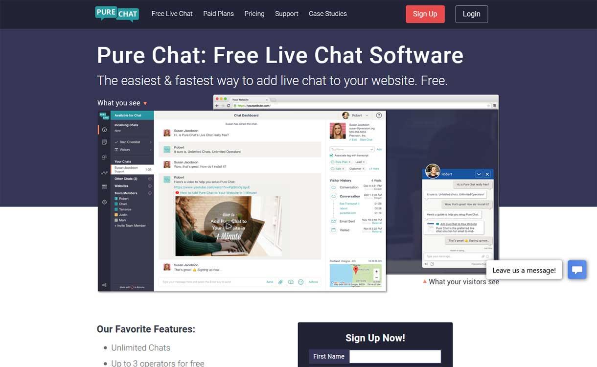 PureChat - Best Live ChatBox Software