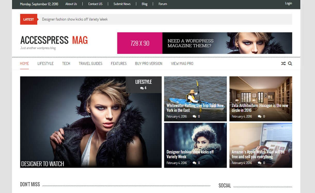 AccessPress Mag 1 - 25+ Best Free WordPress News-Magazine/Online Editorial Themes for 2019