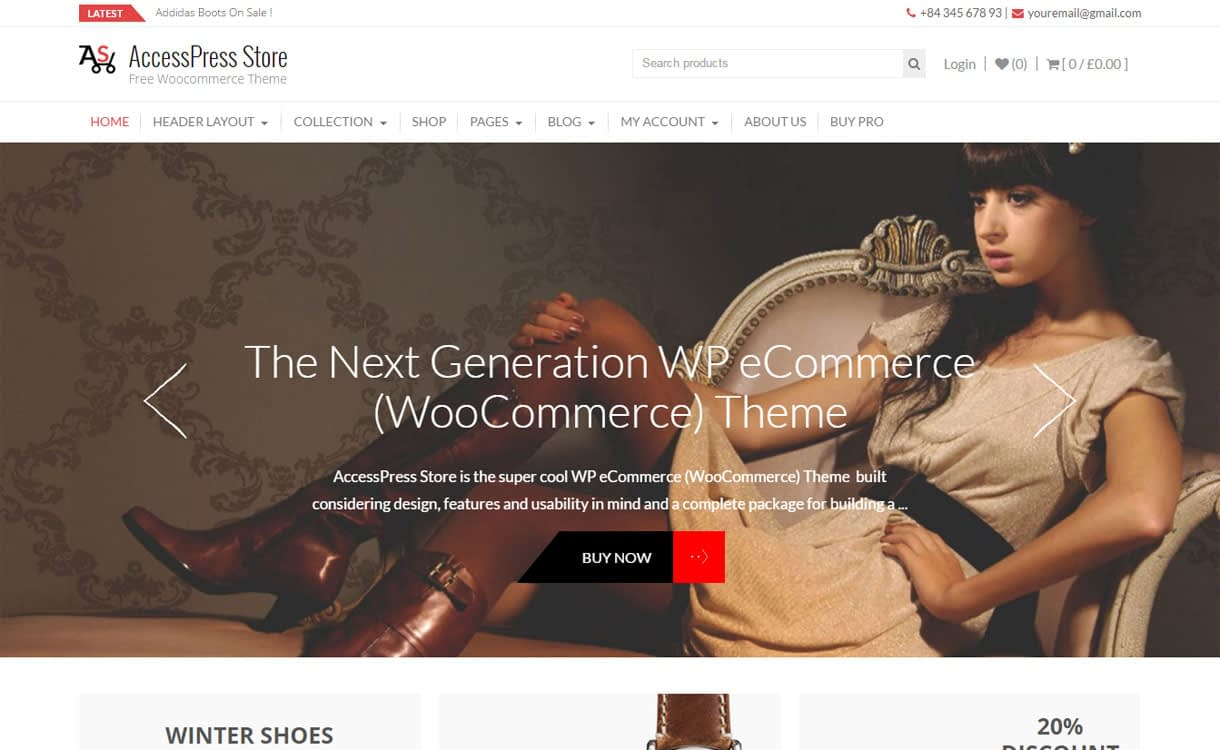 AccessPress Store - 10+ Best Free WordPress eCommerce/Online Store/WooCommerce Themes for 2019