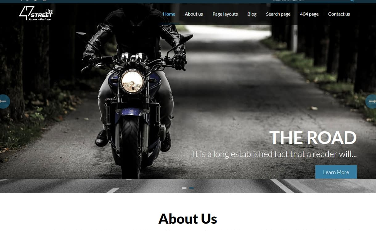 FortySeven Street - 50+ Best Free Responsive WordPress Themes 2019