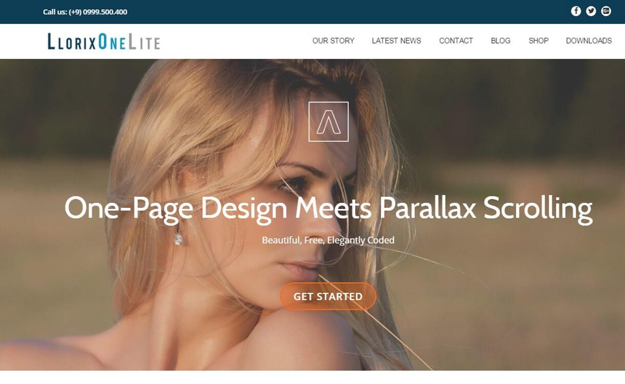 Llorix One Lite - Best Free One Page WordPress Themes 2018