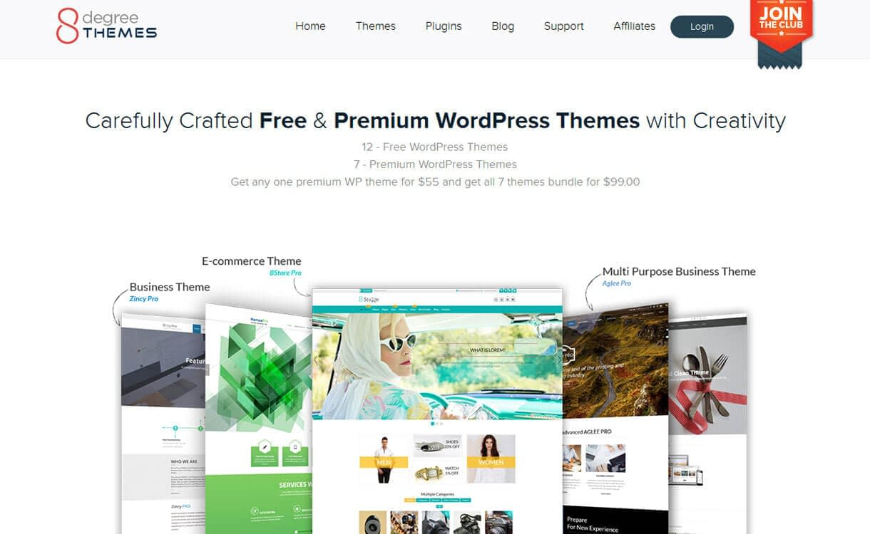 8 Degree Themes -WordPress Deals and Discounts for Easter 2017