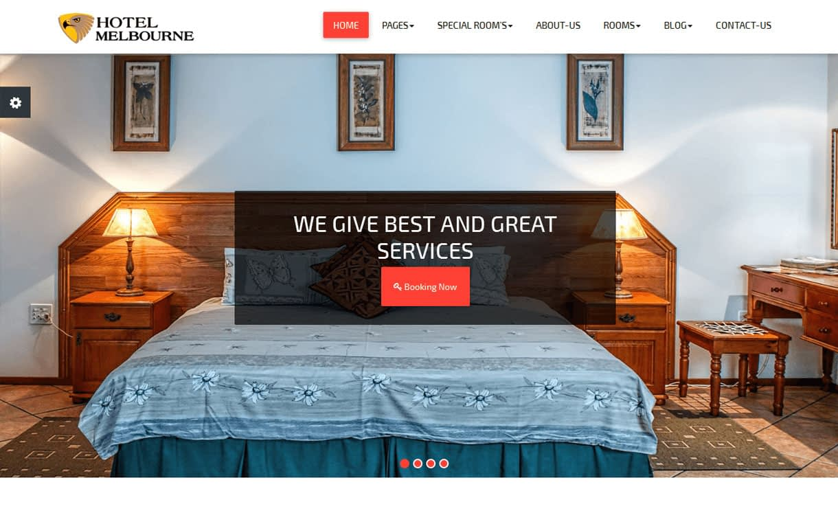 Hotel Melbourne - 11+ Best Free Responsive WordPress Themes October 2016