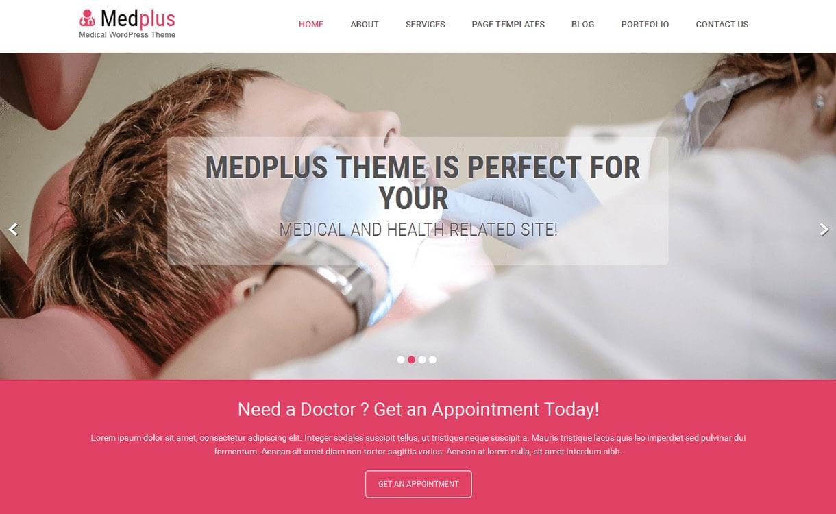MedPlus - 11+ Best Free Responsive WordPress Themes October 2016