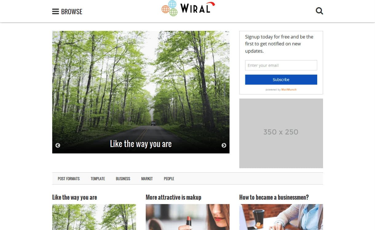 Wiral Lite - 11+ Best Free Responsive WordPress Themes October 2016