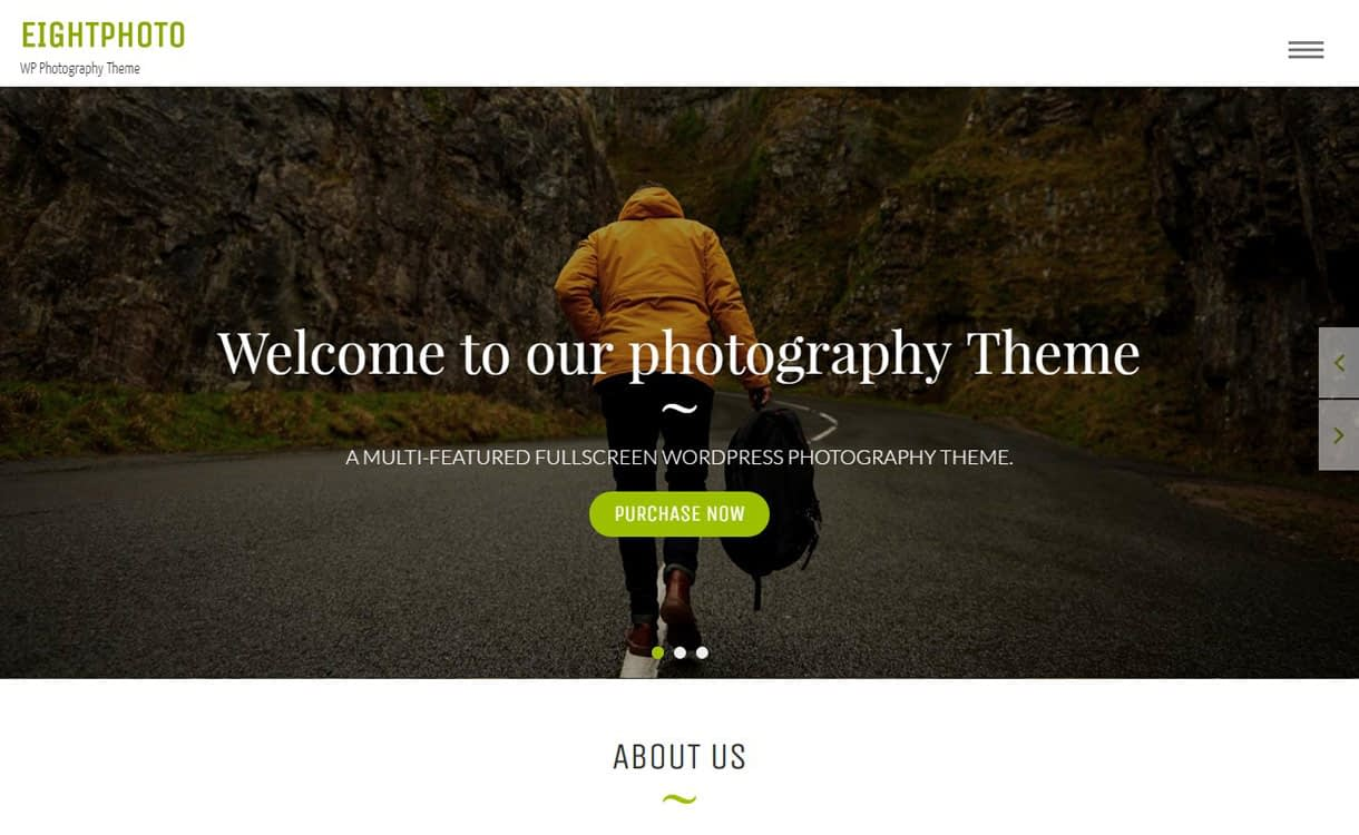 EightPhoto - 11+ Best Free Responsive WordPress Themes November 2016