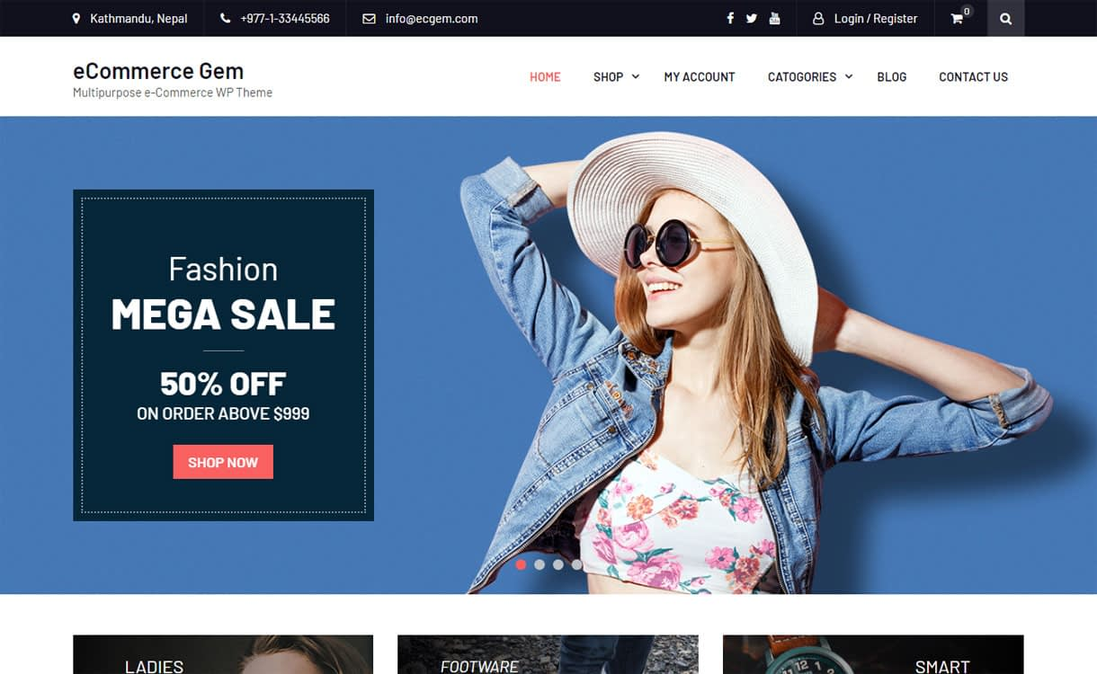 eCommerce Gem - 10+ Best Free WordPress eCommerce/Online Store/WooCommerce Themes for 2019